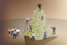 Het beklimmen van de collectieve ladder Royalty-vrije Stock Fotografie