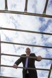 Het beklimmen van de collectieve ladder royalty-vrije stock foto