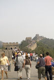 Het beklimmen van de Grote Muur Stock Foto's