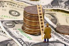 Het beklimmen van de Ladder van Succes royalty-vrije stock afbeeldingen