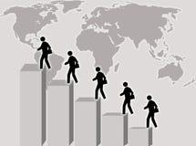 Het beklimmen van de mens vector illustratie