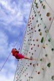 Het Beklimmen van de muur Stock Foto's