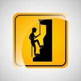 Het beklimmen van de sport extreem ontwerp van het persoonsteken Stock Afbeelding