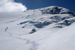 Het beklimmen van de winter Royalty-vrije Stock Afbeelding