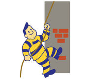 Het beklimmen van Gevangene Stock Afbeelding