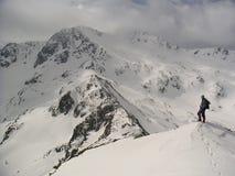 Het beklimmen van hoogte Stock Afbeeldingen