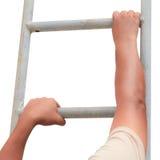 Het beklimmen van ladder royalty-vrije stock foto's