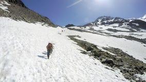Het beklimmen van Mont Blanc op de Alpen royalty-vrije stock foto's