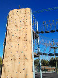 Het beklimmen van muur Stock Fotografie
