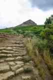 Het beklimmen van Roseberry-Bovenste laagje North Yorkshire Stock Foto's