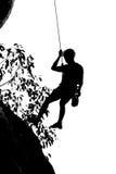Het beklimmen van rots Stock Fotografie