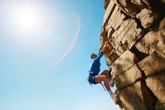 Het beklimmen van rots Royalty-vrije Stock Afbeeldingen