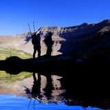 Het beklimmen van Rotsachtige Rand stock foto