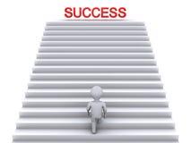 Het beklimmen van treden aan succes vector illustratie