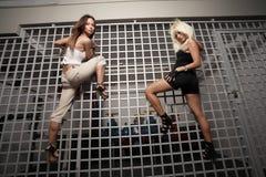 Het beklimmen van vrouwen Royalty-vrije Stock Fotografie
