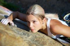 Het beklimmen van vrouwen royalty-vrije stock foto's