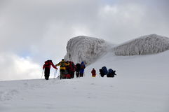 Het beklimmen zet Ararat op Stock Foto's