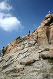 Het beklimmen zet Sorak op Stock Foto