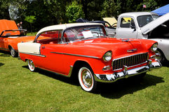Het Bel Air van Chevrolet in Oldtimer toont Stock Foto