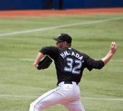 Het belangrijke Honkbal van de Liga: Aas Roy Halladay Stock Foto