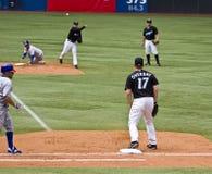 Het belangrijke Honkbal van de Liga: Dubbel spel Stock Foto's