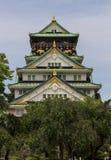 Het belangrijkste levensonderhoud van Osaka Castle in Osaka, Japan. Stock Afbeelding