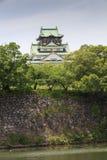 Het belangrijkste levensonderhoud van Osaka Castle in Osaka, Japan. Royalty-vrije Stock Fotografie
