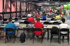 Het belangrijkste perscentrum voor het 2015 IAAF Kampioenschap van de Wereldatletiek in Peking Royalty-vrije Stock Afbeeldingen