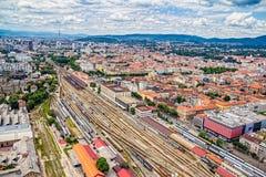 Het belangrijkste station, Zagreb stock fotografie