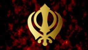 """Het belangrijkste symbool van teken Khanda, Video van Sikhism †het """" stock videobeelden"""
