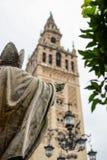 Het belangrijkste vierkant in Sevilla Stock Fotografie
