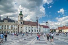 Het Belangrijkste Vierkant in Sibiu Royalty-vrije Stock Afbeelding