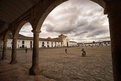 Het belangrijkste vierkant van Villa DE Leyva Colombia stock foto's