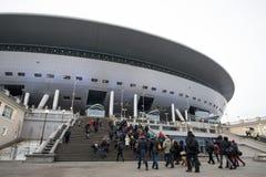 Het belangrijkste voetbalstadion voor Wereldbeker 2018 Stock Foto's