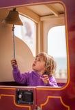 Het bellen van een treinklok Royalty-vrije Stock Afbeeldingen