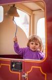Het bellen van een treinklok Stock Afbeelding