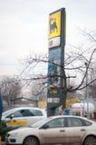 Het benzinestation van Agip Stock Afbeeldingen