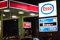 Het Benzinestation van Esso Royalty-vrije Stock Foto