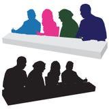 Het beoordelen van Comité Silhouet Stock Foto's