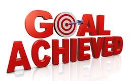 Het bereiken doelstellingen en doelstellingen Stock Foto
