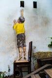 Het bereiken op Straatkunst George Town royalty-vrije stock foto