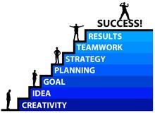 Het bereiken succes stock illustratie
