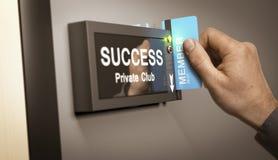 Het bereiken Succes, verwezenlijking Stock Foto