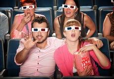 Het bereiken uit bij 3D Film Stock Foto