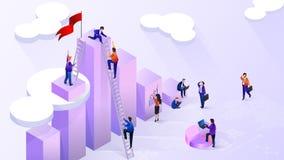 Het bereiken van Hoog Financieel Indicatoren Vectorconcept royalty-vrije illustratie