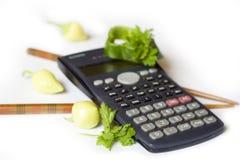 Het berekenen van calorieën Royalty-vrije Stock Afbeelding
