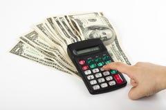 Het berekenen van de begroting Stock Afbeeldingen