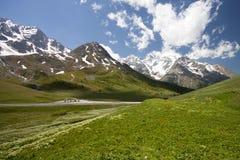 Het berglandschap (Monetier Les Bains) royalty-vrije stock foto