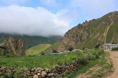Het berglandschap wordt geschoten in het hooglanddorp van Laza Royalty-vrije Stock Foto's