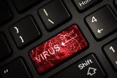 Het bericht op gebroken rood gaat sleutel van toetsenbord in Stock Foto